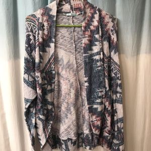 Maurice's open front textures tribal cardigan